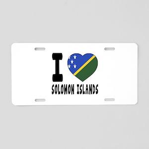 I Love Solomon Islands Aluminum License Plate