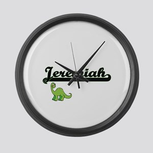 Jeremiah Classic Name Design with Large Wall Clock