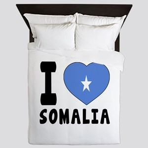 I Love Somalia Queen Duvet
