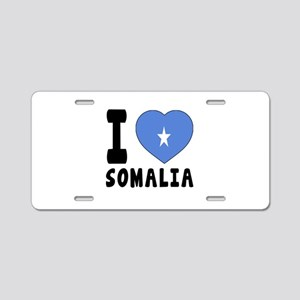I Love Somalia Aluminum License Plate