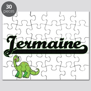 Jermaine Classic Name Design with Dinosaur Puzzle