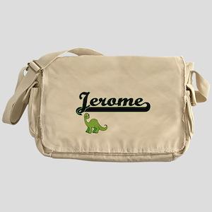 Jerome Classic Name Design with Dino Messenger Bag