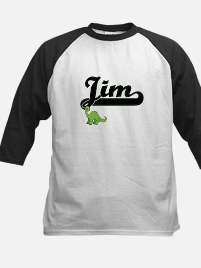 Jim Classic Name Design with Dinos Baseball Jersey