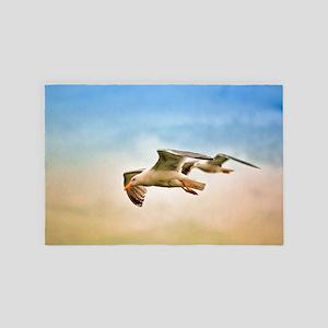Flying Seagulls 4' x 6' Rug