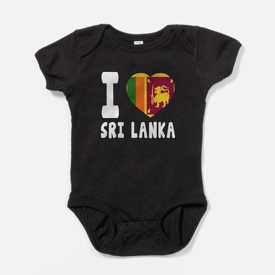 I Love Sri Lanka Baby Bodysuit