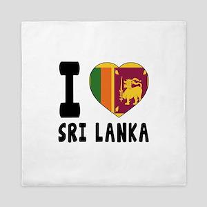 I Love Sri Lanka Queen Duvet