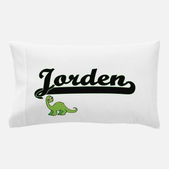 Jorden Classic Name Design with Dinosa Pillow Case
