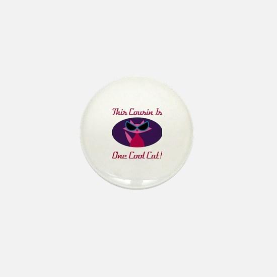 Unique Pink cat Mini Button