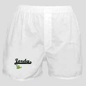 Jordy Classic Name Design with Dinosa Boxer Shorts