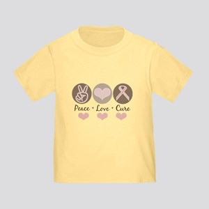 Peace Love Cure Pink Ribbon Toddler T-Shirt