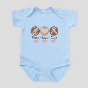 Peace Love Cure Pink Ribbon Infant Onesie Bodysuit