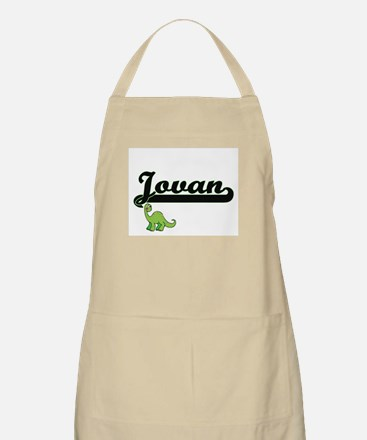 Jovan Classic Name Design with Dinosaur Apron