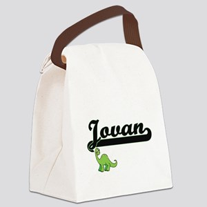 Jovan Classic Name Design with Di Canvas Lunch Bag