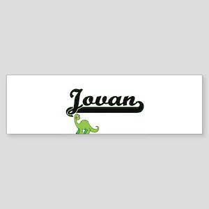 Jovan Classic Name Design with Dino Bumper Sticker