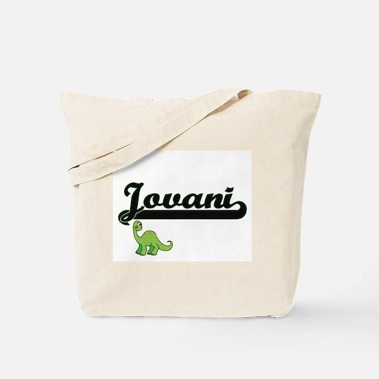 Jovani Classic Name Design with Dinosaur Tote Bag
