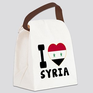 I Love Syria Canvas Lunch Bag
