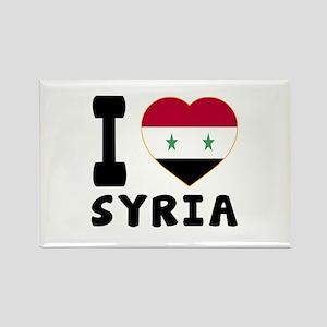 I Love Syria Rectangle Magnet