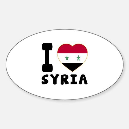 I love syria sticker oval