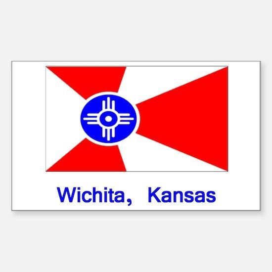 Wichita KS Flag Rectangle Decal