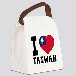 I Love Taiwan Canvas Lunch Bag