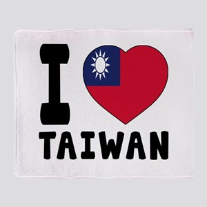 I Love Taiwan Throw Blanket