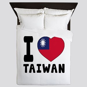 I Love Taiwan Queen Duvet