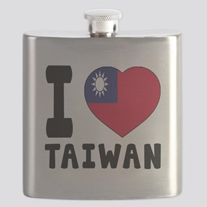 I Love Taiwan Flask
