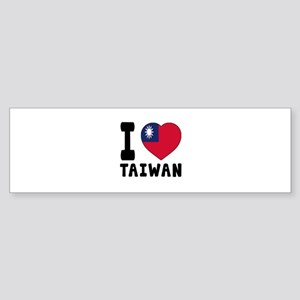 I Love Taiwan Sticker (Bumper)