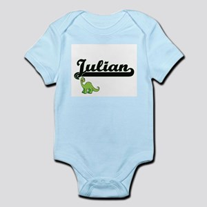 Julian Classic Name Design with Dinosaur Body Suit