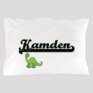 Kamden Classic Name Design with Dinosa Pillow Case