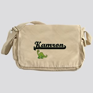 Kamron Classic Name Design with Dino Messenger Bag