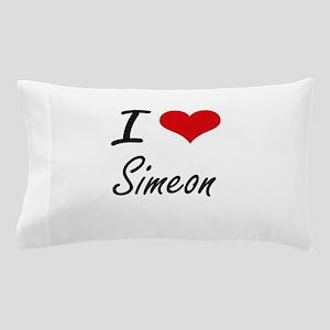 I Love Simeon Pillow Case