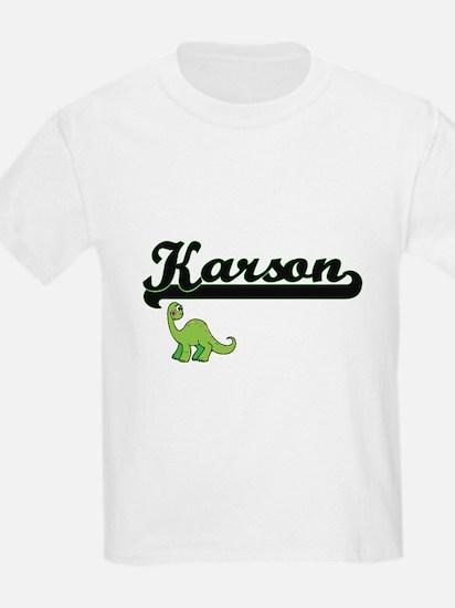 Karson Classic Name Design with Dinosaur T-Shirt