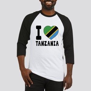 I Love Tanzania Baseball Jersey