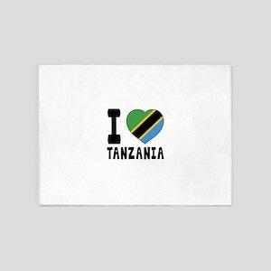 I Love Tanzania 5'x7'Area Rug