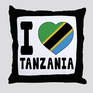 I Love Tanzania Throw Pillow