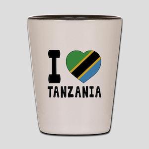 I Love Tanzania Shot Glass