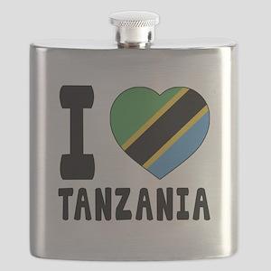 I Love Tanzania Flask