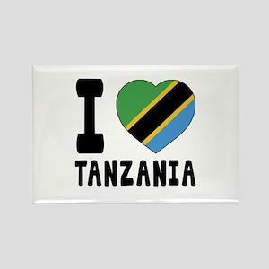 I Love Tanzania Rectangle Magnet