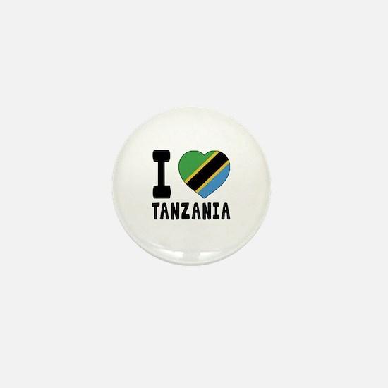 I Love Tanzania Mini Button