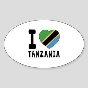 I Love Tanzania Sticker (Oval)
