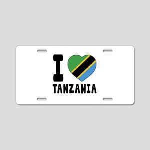 I Love Tanzania Aluminum License Plate