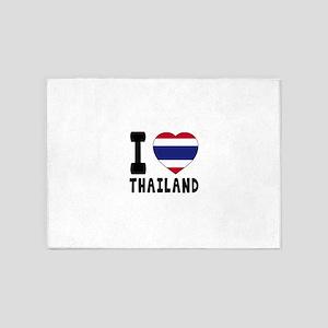I Love Thailand 5'x7'Area Rug