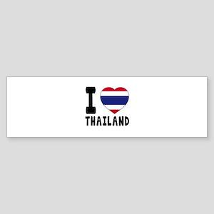 I Love Thailand Sticker (Bumper)