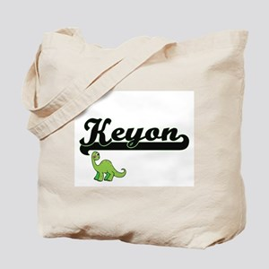 Keyon Classic Name Design with Dinosaur Tote Bag