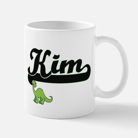Kim Classic Name Design with Dinosaur Mugs