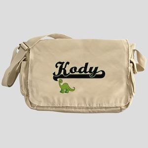 Kody Classic Name Design with Dinosa Messenger Bag
