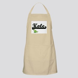 Kole Classic Name Design with Dinosaur Apron