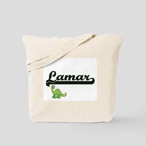 Lamar Classic Name Design with Dinosaur Tote Bag
