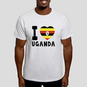 I Love Uganda Light T-Shirt